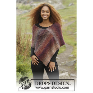 Ember by DROPS Design - Poncho Strikkekit str. S/M - XXL/XXXL