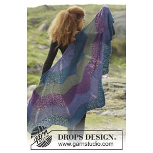 Aurora Borealis by DROPS Design - Sjal Strikkeopskrift 148x74 cm