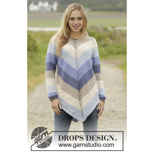 Ocean Stripes by DROPS Design - Tunika Strikkeopskrift str. S - XXXL