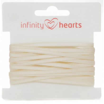 Infinity Hearts Satinbånd Dobbeltsidet 3mm 810 Natur - 5m