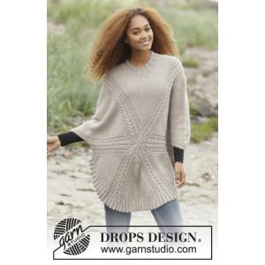 Sand Tracks by DROPS Design - Bluse Strikkeopskrift str. S - XXXL