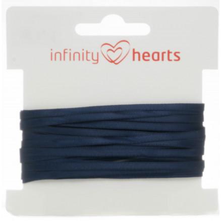 Infinity Hearts Satinbånd Dobbeltsidet 3mm 370 Marine - 5m