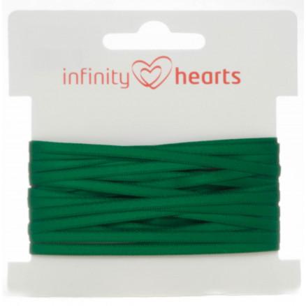 Infinity Hearts Satinbånd Dobbeltsidet 3mm 563 Støvet Grøn - 5m