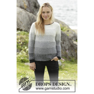 Shades of Grey by DROPS Design - Bluse Strikkeopskrift str. S - XXXL