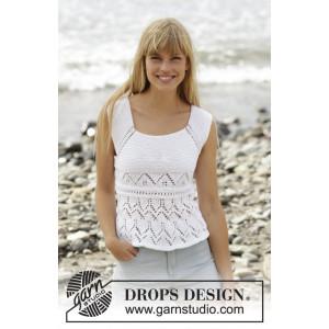 Aura by DROPS Design - Top Strikkeopskrift str. S - XXXL