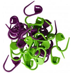 Image of   Maskemarkører 30 stk. i grøn og lilla 2 cm
