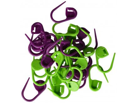 Image of   Drops Maskemarkører 30 stk. i grøn og lilla 2 cm