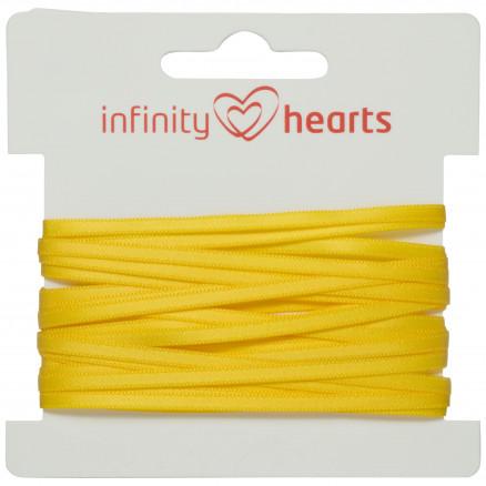 Infinity Hearts Satinbånd Dobbeltsidet 3mm 645 Gul - 5m
