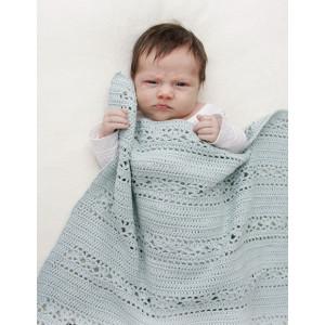 Sleepy Times by DROPS Design - Baby Tæppe Hækleopskrift 65x81 cm