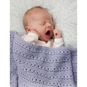 Sleepyhead by DROPS Design - Baby Tæppe Hækleopskrift 66-80 cm