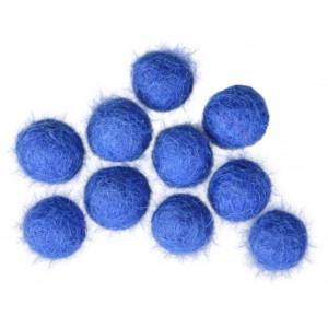 Filtkugler 10mm Blå BL1 - 10 stk