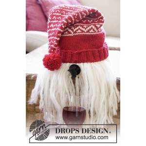 Merrier Christmas by DROPS Design - Vin-nisse Strikkeopskrift 2-3 L