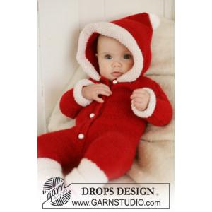 My First Christmas by DROPS Design - Baby Juledragt Strikkeopskrift str. 1/3 mdr - 3/4 år