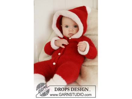 Image of   My First Christmas by DROPS Design - Baby Juledragt Strikkeopskrift st