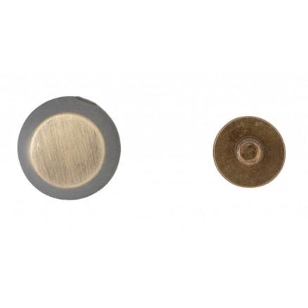 Infinity Hearts Taskefødder Messing Antik Bronze 6mm - 4 stk