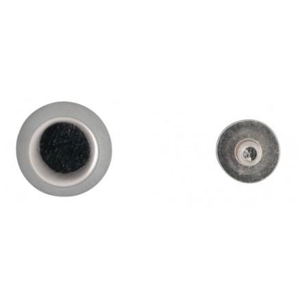Infinity Hearts Taskefødder Messing Sølv 6mm - 4 stk