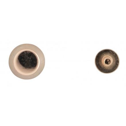 Infinity Hearts Taskefødder Messing Lys Guld 6mm - 4 stk