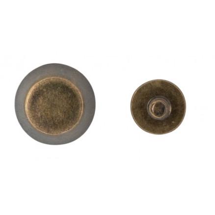Infinity Hearts Taskefødder Messing Antik Kobber 6mm - 4 stk