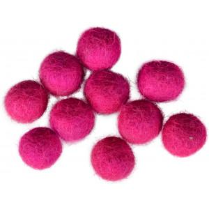 Filtkugler 10mm Mørk Pink P2 - 10 stk