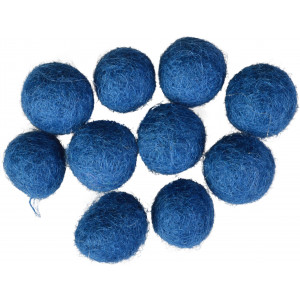 Filtkugler 10mm Mørkeblå BL3 - 10 stk