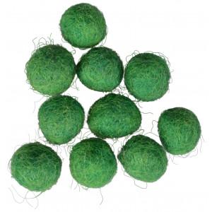 Diverse – Filtkugler 10mm mørkegrøn gn10  - 10 stk fra rito.dk