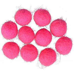 Filtkugler 10mm Pink P3 - 10 stk