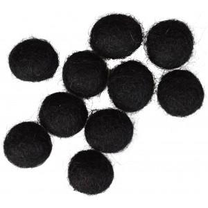 Filtkugler 10mm Sort BLACK - 10 stk