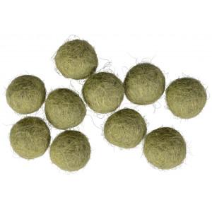 Filtkugler 10mm Støvet Grøn GN9 - 10 stk