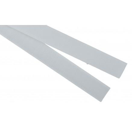 Burrebånd/Flexbånd Hook/Loop Hvid 20mm - 50cm