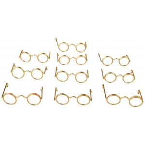 Nissebriller / Dukkebriller 3,5 cm Metal - 10 stk