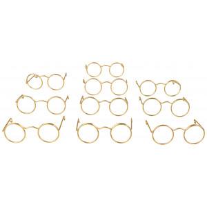 Nissebriller / Dukkebriller 5 cm Metal - 10 stk
