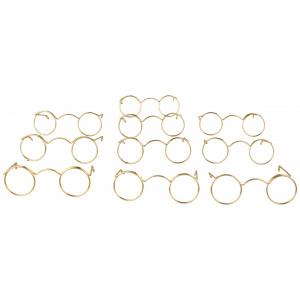 Nissebriller / Dukkebriller 6 cm Metal - 10 stk