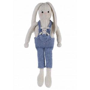 Go handmade Strikkekit Kaninerne Lukas 33 cm & Buddy 5 cm