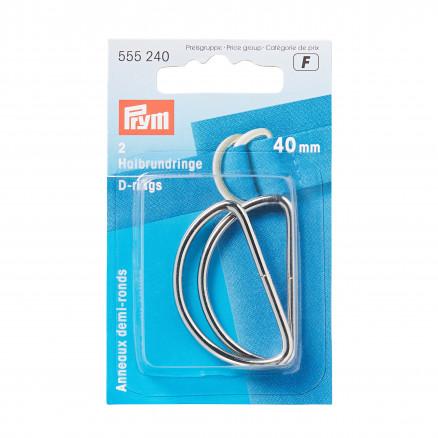 Prym D-ring Stål Sølv 40mm - 2 stk