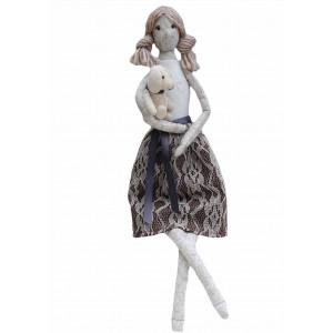 Go handmade Syopskrift Dukken Charlene Filt 45 cm