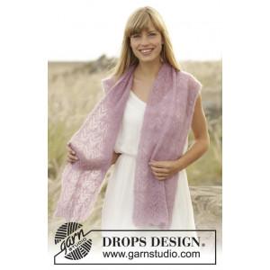 Spring Blush by DROPS Design - Sjal Strikkeopskrift 168x30 cm