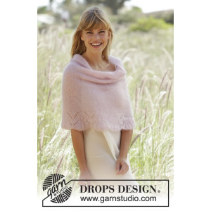 Candyfloss by DROPS Design - Poncho Strikkeopskrift str. S - XXXL
