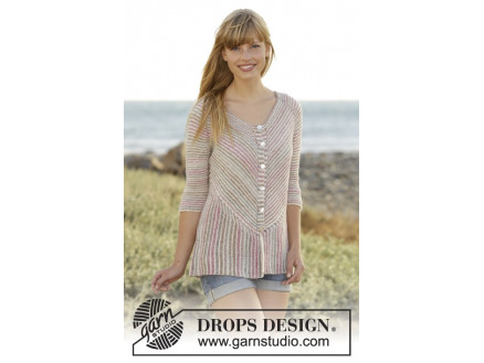 Image of   Crayons Cardigan by DROPS Design - Jakke Strikkeopskrift str. S - XXXL