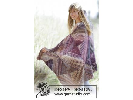 Purple Love by DROPS Design - Tæppe Strikkeopskrift 150x90 cm thumbnail