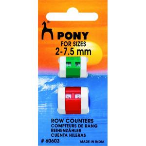 Pony Omgangstæller / Pindetæller 2-7,5 mm - 2 stk