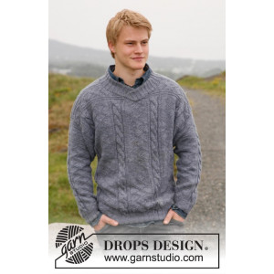Sir Lancelot by DROPS Design - Sweater Strikkeopskrift str. S - XXXL