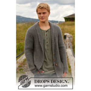 Lewis by DROPS Design - Jakke Strikkeopskrift str. S - XXXL