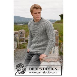 Dreams of Aran by DROPS Design - Jakke Strikkeopskrift str. 13/14 år og S - XXXL