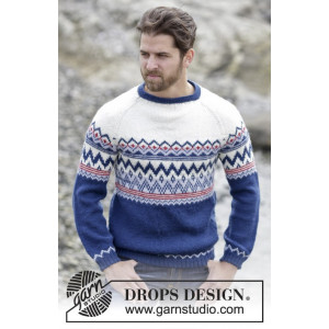 Ólafur Jumper by DROPS Design - Bluse Strikkeopskrift str. S - XXXL