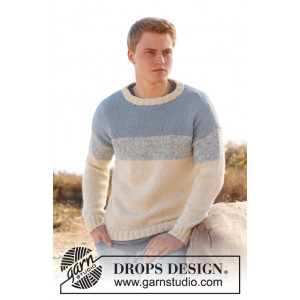 Blue Horizon by DROPS Design - Bluse Strikkeopskrift str. S - XXXL