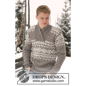 Simon by DROPS Design - Bluse Strikkeopskrift str. XS/S - XXXL