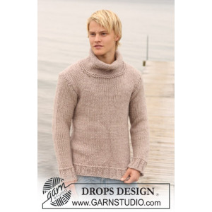 Jakob by DROPS Design - Sweater Strikkeopskrift str. S - XXXL