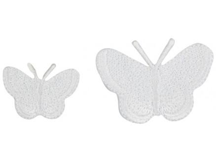 Image of   Strygemærke Sommerfugle Hvid Ass. størrelser - 2 stk