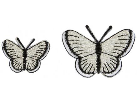 Image of   Strygemærke Sommerfugle Sølv Ass. størrelser - 2 stk