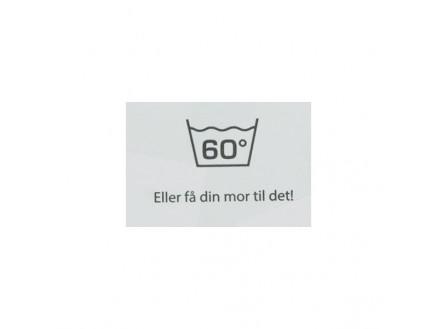 Image of   Label Vask 60 Grader Hvid - 1 stk